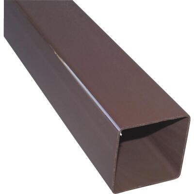 RainGo 2-1/2 In. Square Brown Vinyl Downspout
