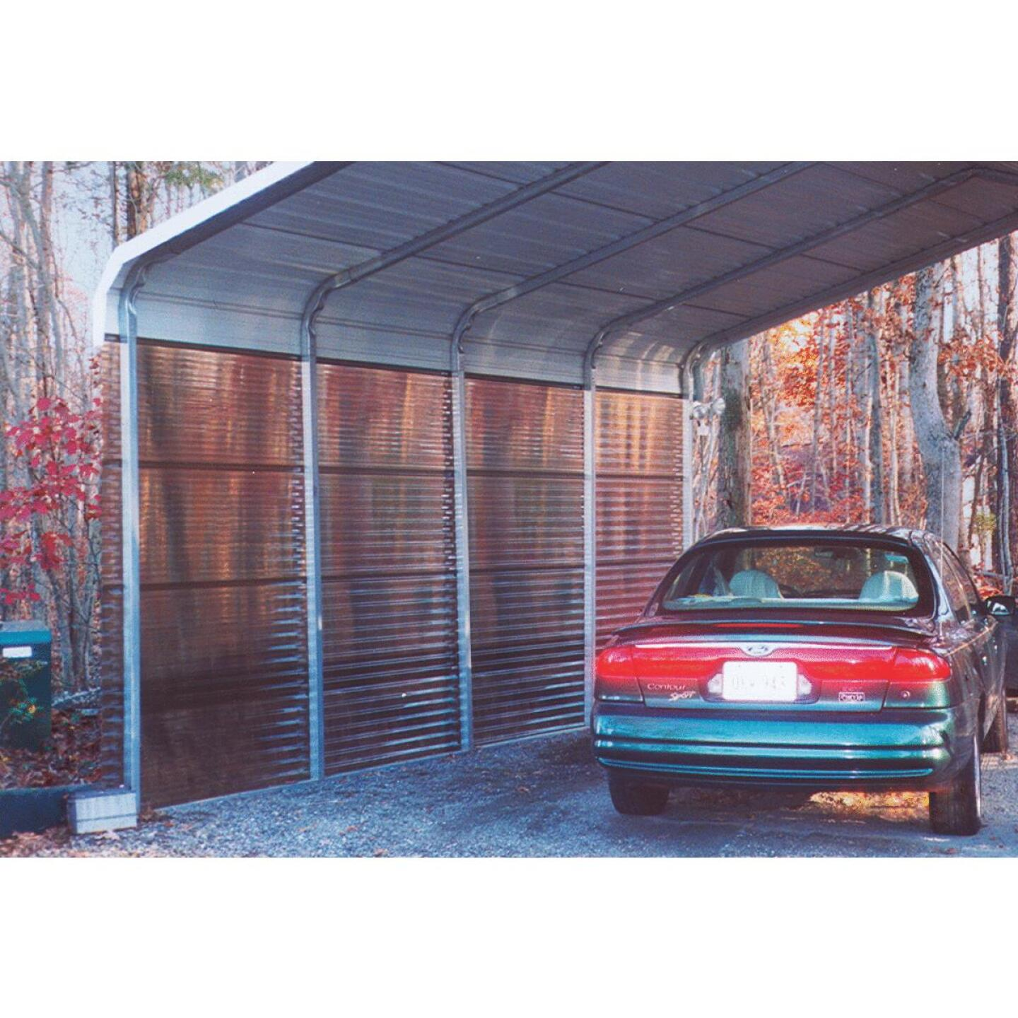 Tuftex PolyCarb 26 In. x 8 Ft. Translucent Smoke Square Wave Polycarb & Vinyl Corrugated Panels Image 3