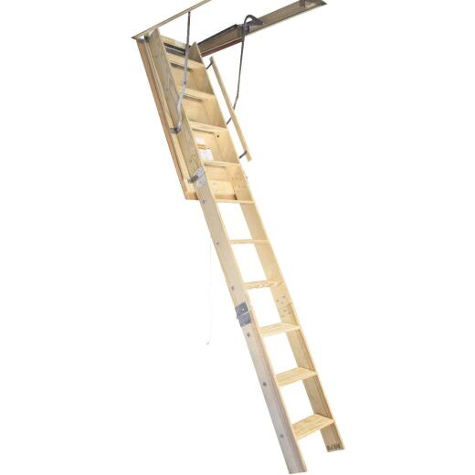 Louisville Champion 7 Ft. to 8 Ft. 9 In., 25-1/2 In. x 54 In. Wood Attic Stairs, 300 Lb. Load