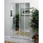 Erias Series 4400 36 In. W. x 80-1/2 In. H. Steel Frame Mirrored White Bifold Door Image 1