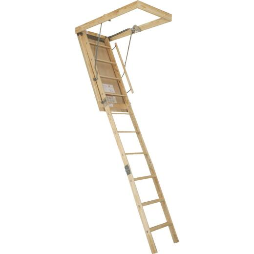 Louisville Premium 7 Ft. to 8 Ft. 9 In. 22-1/2 In. x 54 In. Wood Attic Stairs, 250 Lb. Load