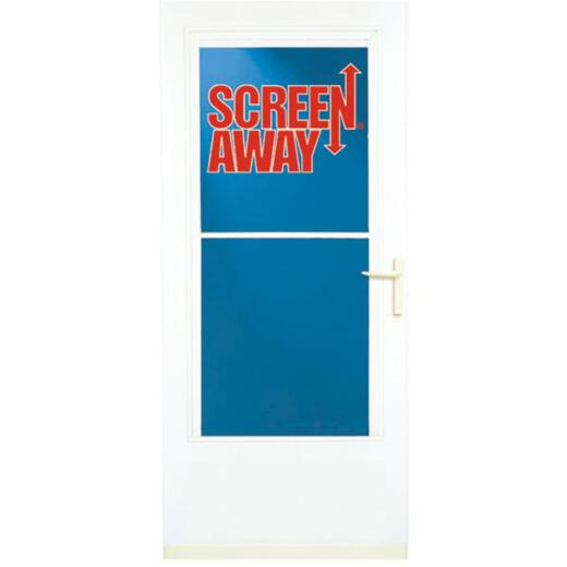 Larson Screenaway Life-Core 36 In. W. x 80 In. H. x 1 In. Thick White Mid View DuraTech Storm Door