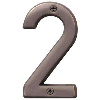 Hy-Ko Prestige Series 4 In. Oil Rubbed Bronze House Number Two