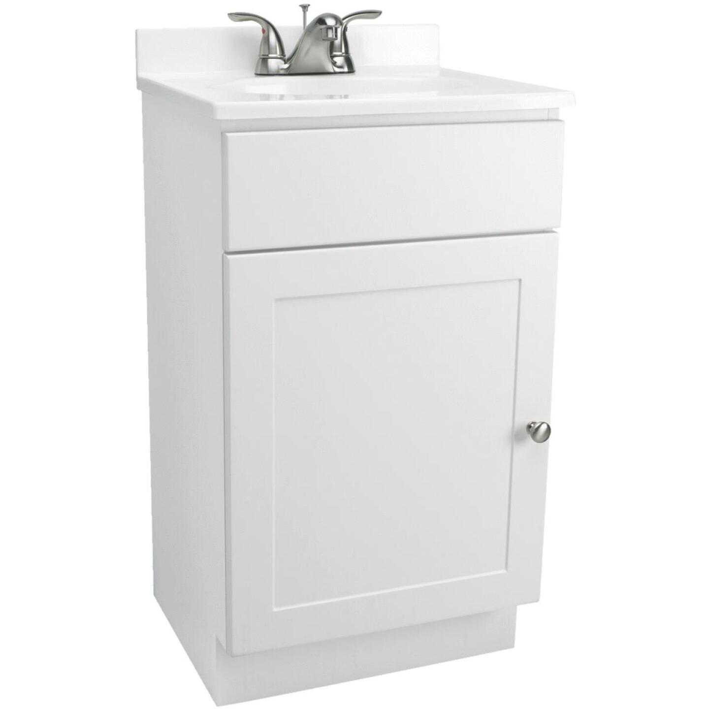 Design House White 18 In. W x 31-1/2 In. H x 16 In. D Combo Vanity with Cultured Marble Top Image 1