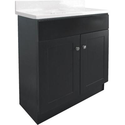 Design House Espresso 24 In. W x 31-1/2 In. H x 18 In. D Combo Vanity with Cultured Marble Top