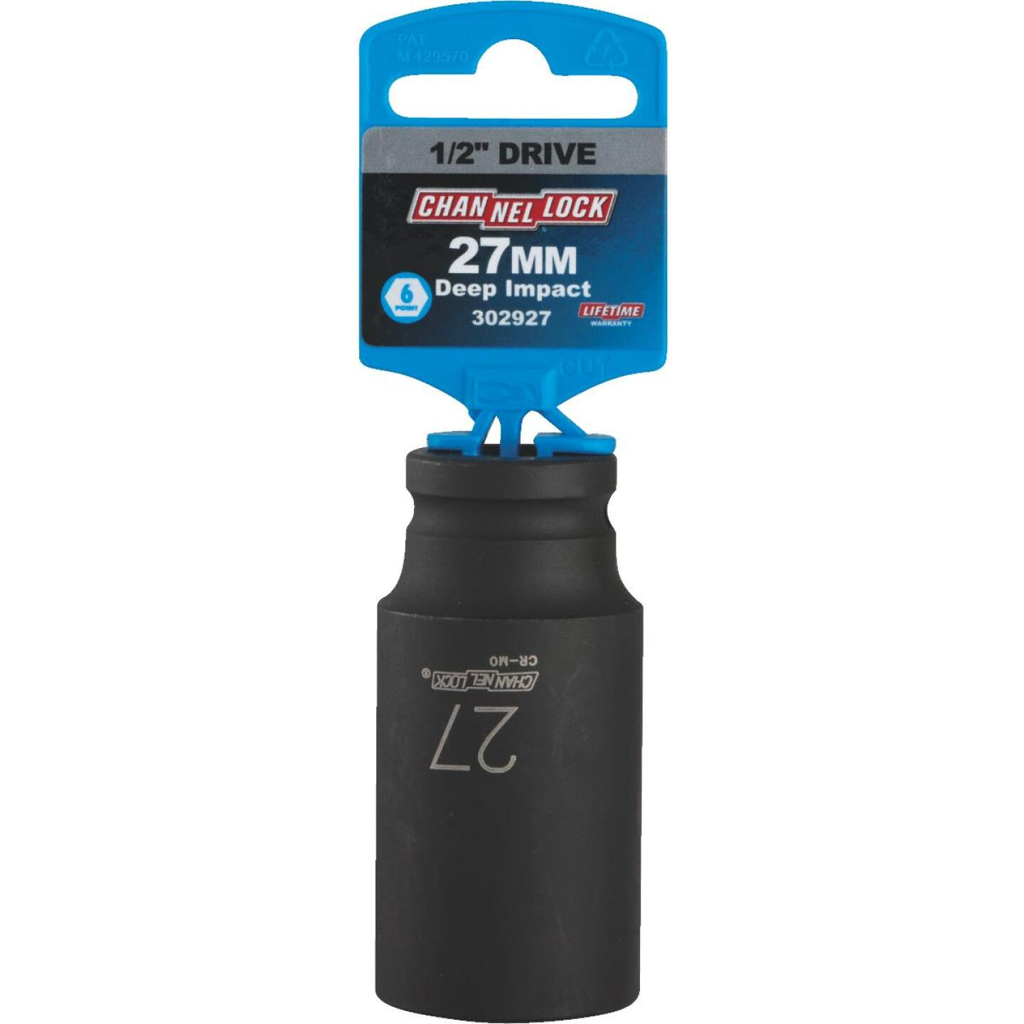 Channellock 1/2 In. Drive 27 mm 6-Point Deep Metric Impact Socket Image 2
