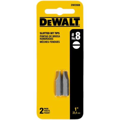 DeWalt Slotted #8 1 In. Insert Screwdriver Bit