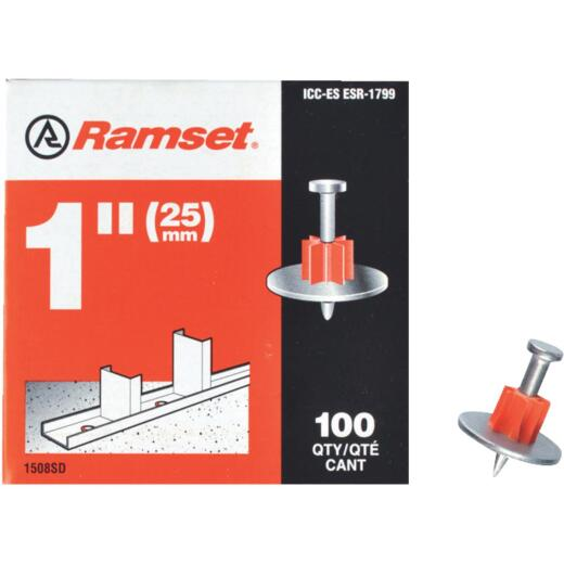 Ramset 1 In. Fastening Pin with Washer (100-Pack)