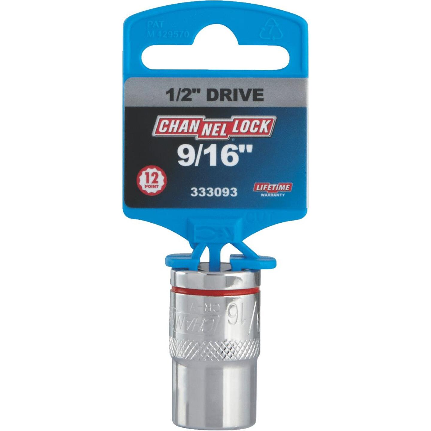 Channellock 1/2 In. Drive 9/16 In. 12-Point Shallow Standard Socket Image 2