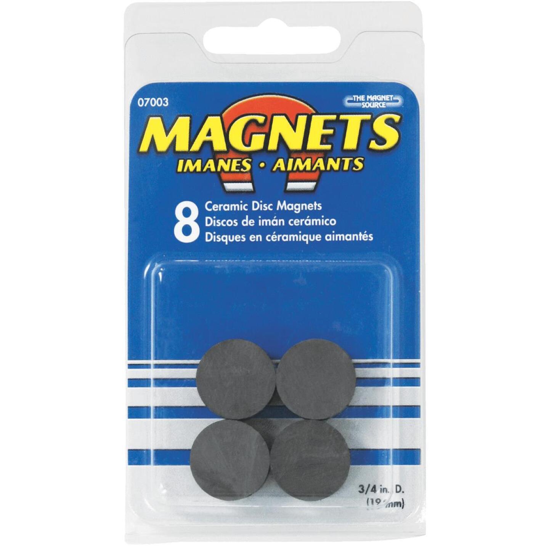 Master Magnetics 3/4 in. Ceramic Magnetic Discs (8-Pack) Image 2