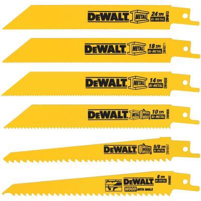 DeWalt 6-Piece Reciprocating Saw Blade Set