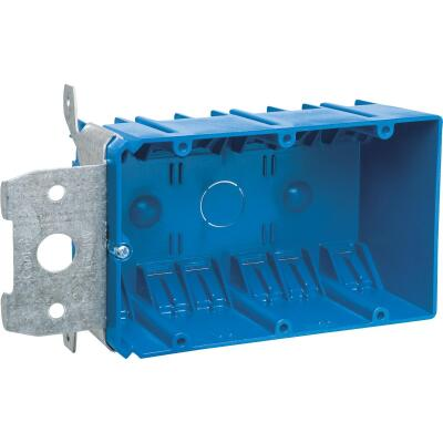 Carlon Adjust-A-Box 3-Gang PVC Molded Wall Box