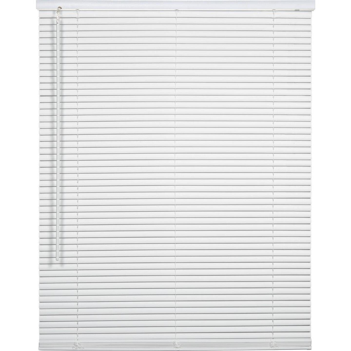 Home Impressions 26 In. x 72 In. x 1 In. White Vinyl Light Filtering Cordless Mini Blind Image 1