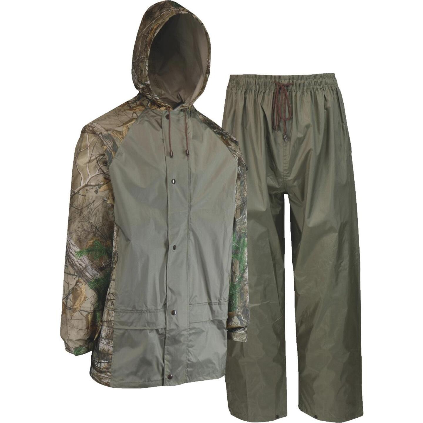 West Chester Large 2-Piece RealTree Camo Polyester Rain Suit Image 1