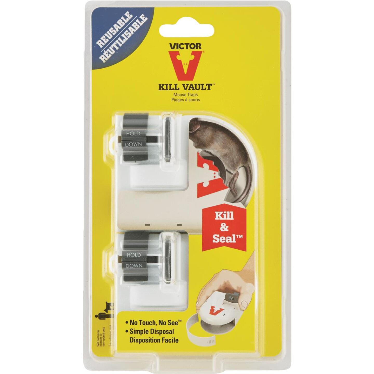 Victor Kill And Seal Mechanical Hygienic Mouse Trap (2-Pack) Image 4