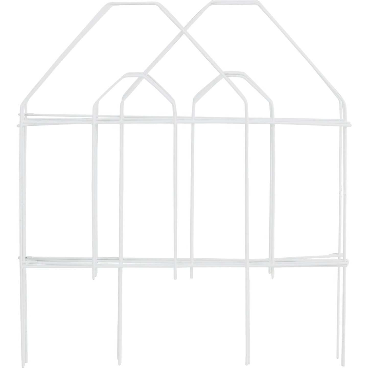 Best Garden 8 Ft. White Galvanized Wire Folding Fence Image 1