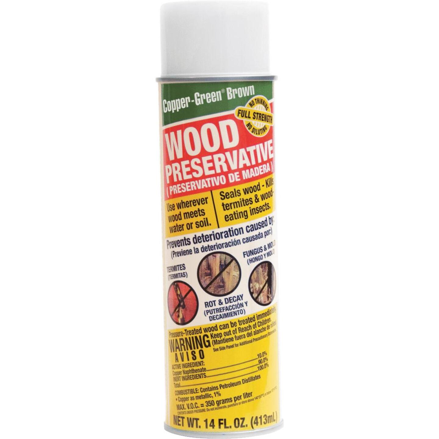 Copper-Green Exterior Wood Preservative, Brown,14 Oz. Image 1